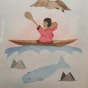 Susie Malgokak Signed Framed Pencil Print Art